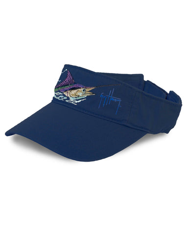 Guy Harvey's Marlin Head Visor - Navy