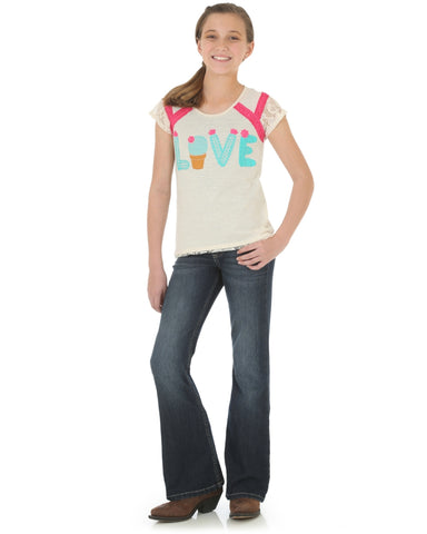Girls Graphic Western T-Shirt