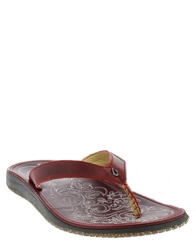 Womens Paniolo Sandals - Red