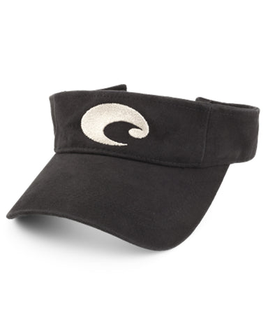Costa Cotton Visor - Black