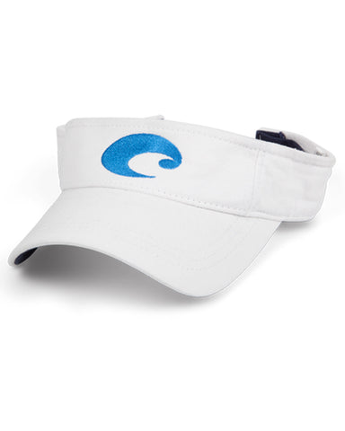Costa Cotton Visor - White