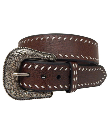 Mens Roped Edges Leather Belt