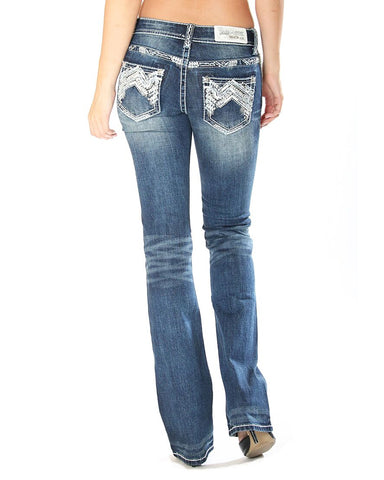 Women's Easy Fit Boot Cut Jeans