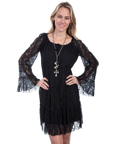 Womens Lace Dress - Black