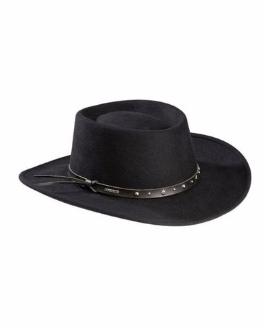 Stetson's Black Hawk Crushable Wool Hats
