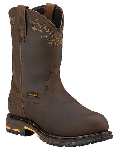 Mens Workhog H20 Comp-Toe Pull-On Boots