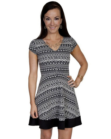 Women's Scoopneck Aztec Dress