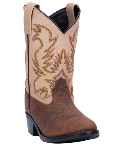 Kids Buckeye Two Toned Western Boots