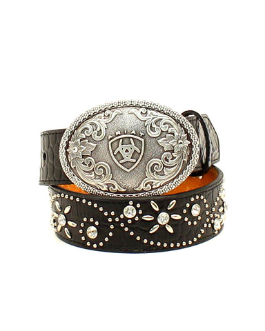 Kid's Floral Studded Belt