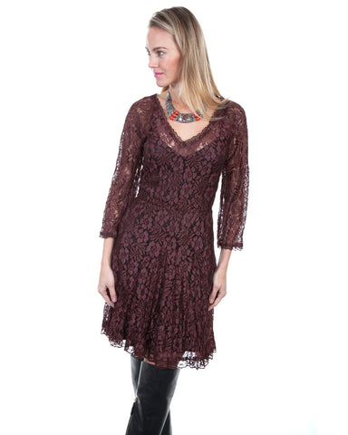 Women's Velvet Lace Dress