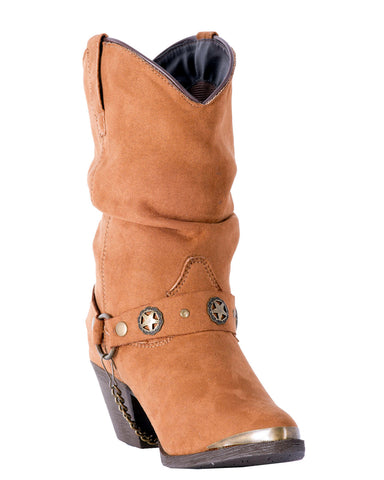 Womens Camilla Fashion Harness Boots - Rust