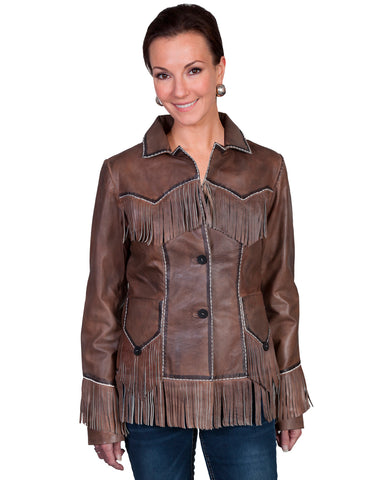 Womens Lamb Fringe Jacket