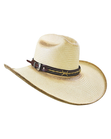 9b7397b0c652ff Rider Barbed Wire Straw Hat – Skip's Western Outfitters