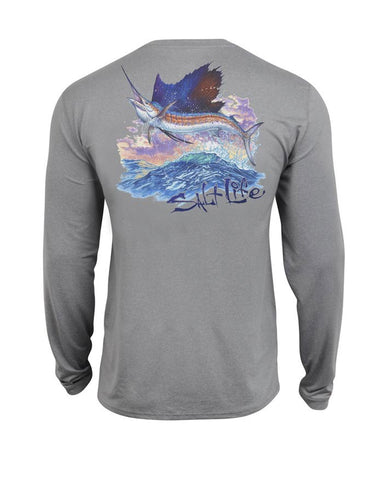 Salt Life Marlin Ocean Long Sleeve Shirt