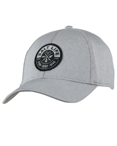 Salt Life Icon Stretch Fit Ball Cap - Grey