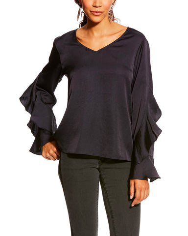 Women's Hatch Satin Blouse