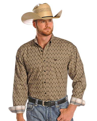 Men's Poplin Snap Up Western Shirt