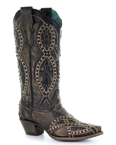 Women's Heavily Studded Western Boots