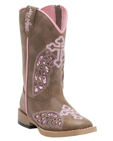 Kids Gracie Cross & Wings Side-Zip Boots