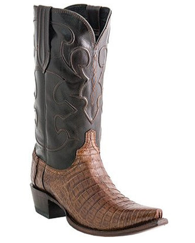 Mens Charles Caiman Crocodile Belly Boots - S54