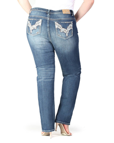 Women's Plus Size Straight Leg Jean