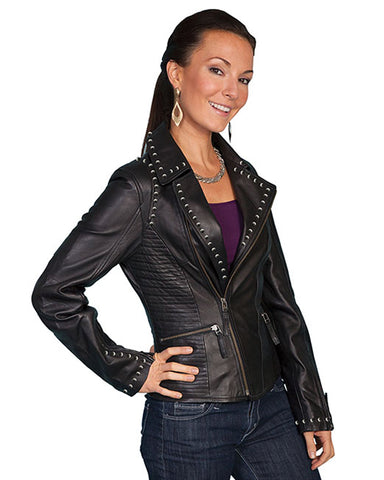 Women's Lambskin Motorcycle Jacket