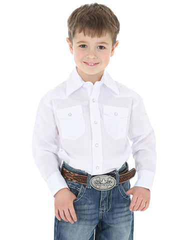 Boy's Long Sleeve Western Snap Shirt