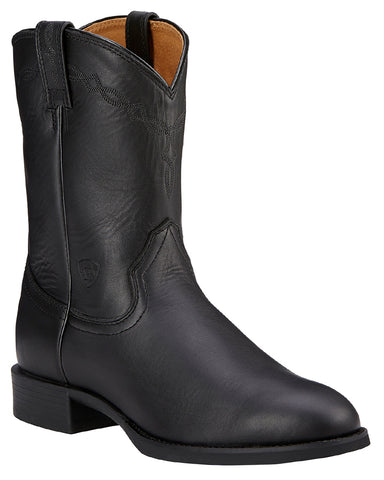 Mens Heritage Roper Pull-On Boots - Black