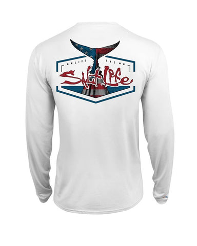Mens American Tail Long Sleeve Shirt - White