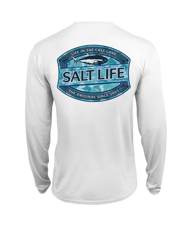 Men's Life In The Cast Lane Long Sleeve Shirt - White