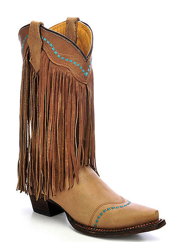 Kids Embroidered Fringe Boots