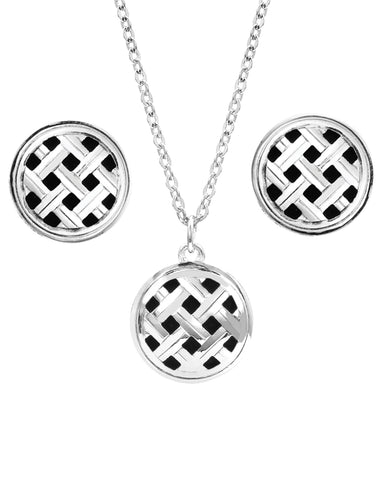 Silver Legacy Button Jewelry Set