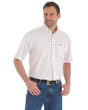 Mens George Strait Short Sleeve Western Shirt - White
