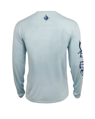 Mens Captain SLX UVapor Long Sleeve Shirt - Light Blue