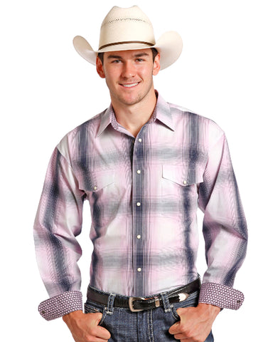 Mens Blush Snap Up Western Shirt