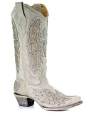 Womens Wing & Cross Studded Boots
