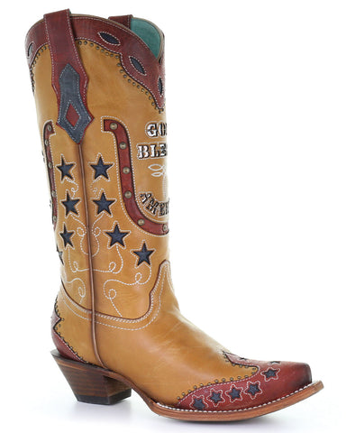 Women's God Bless America Western Boots