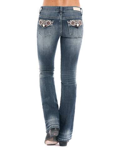 Rock /& Roll Cowgirl Girls Multi Embroidered Bootcut Jeans G5-1028