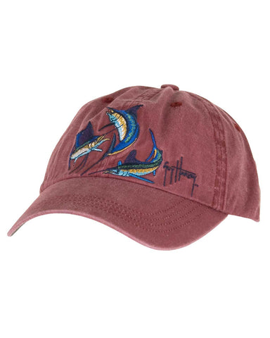 Guy Harvey's Grand Slam Ball Cap - Cardinal