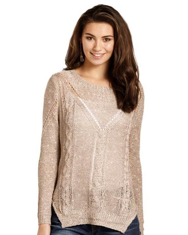 Womens Sequin Sweater
