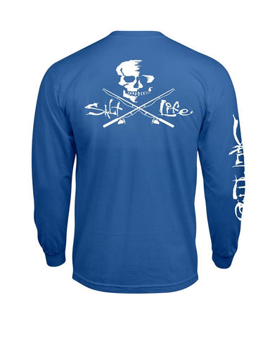 Men's Skull & Hooks Long Sleeve Shirt - Royal