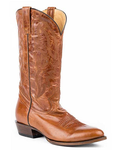 Mens Cassidy Marbled Boots - Cognac