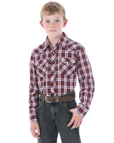 Boy's Dress Long Sleeve Western Shirt