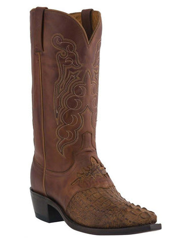 Men's Beauford HB Caiman Crocodile Boots - Tan
