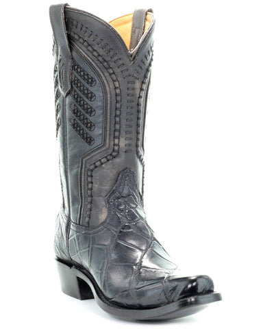 Men's Grey Alligator Boots