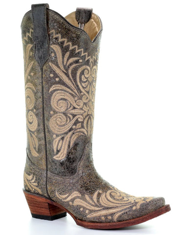 Women's Embroidered Filigree Boots