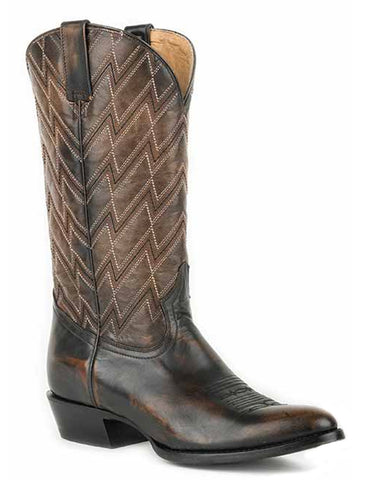 Mens Chevron Brushoff Boots - Brown