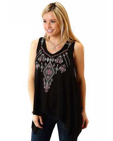 Sleeveless Top - Black Rocks at Trouville by VIDA VIDA Sale Pay With Paypal Cheap Sale Cost kLaWJssDh