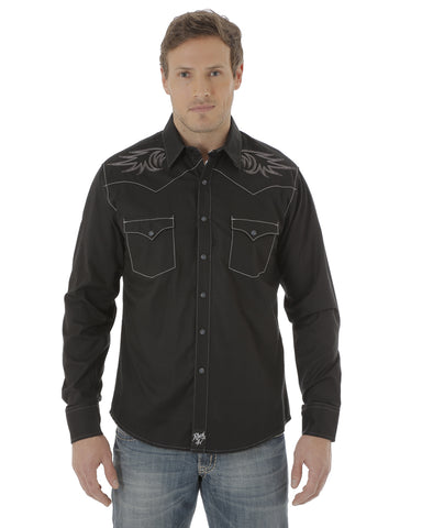 Men's Rock 47 Embroidered Long Sleeve Shirt
