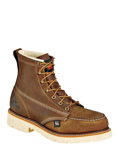 "Mens American Heritage 6"" Moc Steel-Toe Lace-Up Boots"
